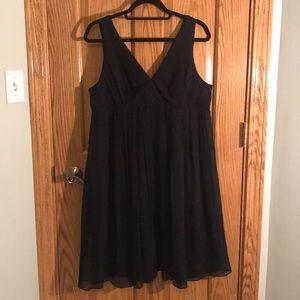 J. Crew Chiffon Dress Black